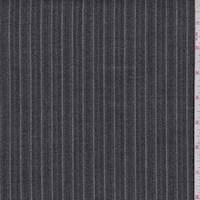 *2 YD PC--Black/Grey Herringbone Stripe Suiting